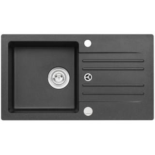 Kuchyňský dřez Alveus Cortina 140 Black 91, s excentrem
