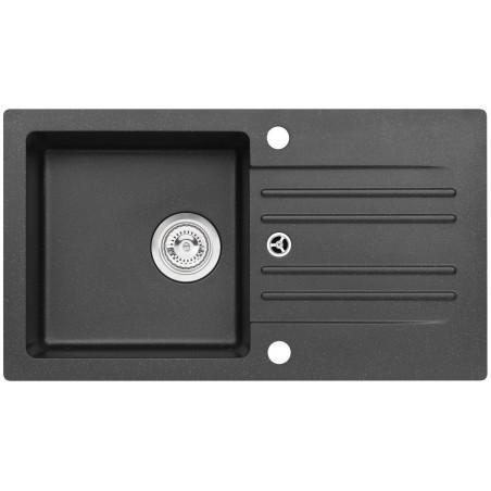 Kuchyňský dřez Alveus Cortina 140 Black 91, bez excentru